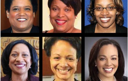 Top (Left to Right): Albany City School District, Marguerite Vanden Wyngaard; Brockport Superintendent, Lesli Myers; North Syracuse Central School District Superintendent, Kim Dyce-Faucette. Bottom (Left to Right): Buffalo Public Schools Superintendent, Pamela Brown; Auburn Enlarged City School District Superintendent, Constance Evelyn; Syracuse City School District Superintendent, Sharon Contreras