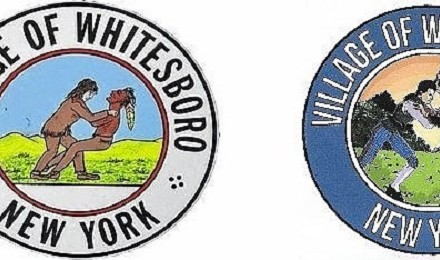 (Left Original Whitesboro seal; (Right) updated version