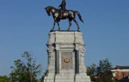 As  cities around the nation have begun destroying monuments to the slave-supporting Confederacy, this statue of Confederate General Robert E. Lee is one of five Confederate statues still standing on Monument Avenue in Richmond, Va. PHOTO: National Park Service