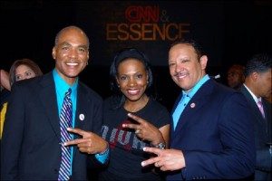 Phill Wilson, Sheryl Lee Ralph and Marc Morial at a previous Essence Festival in New Orleans