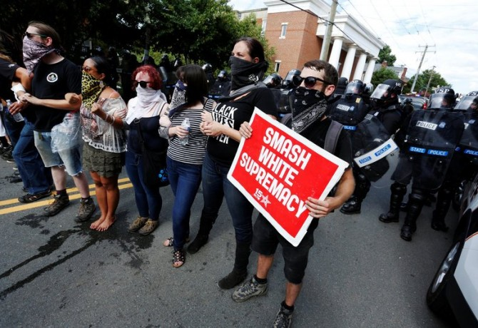 anti-hate protesters - charlottesville