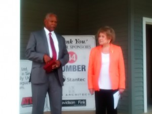 Congresswoman Louise Slaughter, Rochester Urban League President William Clark