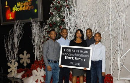 CAP Communty Outreach Specialist Veronica Black with her four sons, three of whom she adopted.