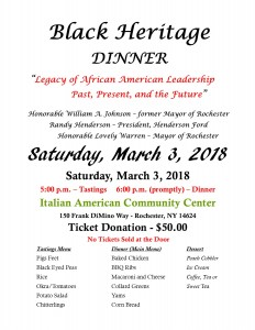 Black Heritage Dinner Flyer 2018