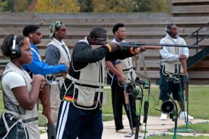Blacks at a gun range