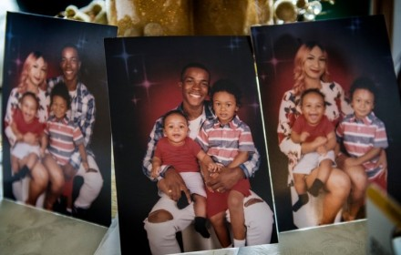 Stephon Clark and his sons, Cairo, 1, and Aiden, 3. PHOTO: Renee C. Byer/The Sacramento Bee