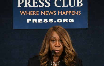 Lois Johnson speaks on homeownership during the recent Stateswomen for Justice Luncheon at the National Press Club. PHOTO: Roy Lewis/Trice Edney News Wire