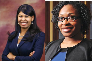 L to R: Zuleika Shepard and Fatimat Reid