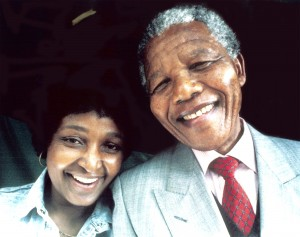 SOUTH AFRICA - JANUARY 01: Former President Nelson Mandela and his wife, Winnie Madikizela Mandela. (Photo by Media24/Gallo Images/Getty Images)