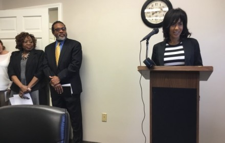 (L to R)  Loretta Scott, President Rochester City Council; Jerome Underwood, ABC president and CEO;  Linda King-Bronner, Director of Health Services.