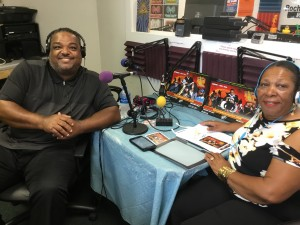 "Varick Baiyina in the studio at ""Real Talk with Martha Hope"""