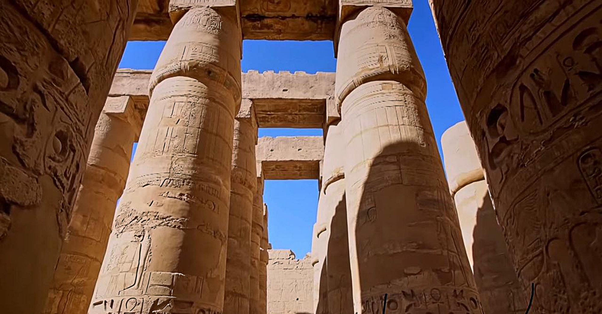 The columns hall of Karnak temple is being restored for a ceremony for the Rams Road Development Project, opening in Luxor, Egypt. (Zenger News)