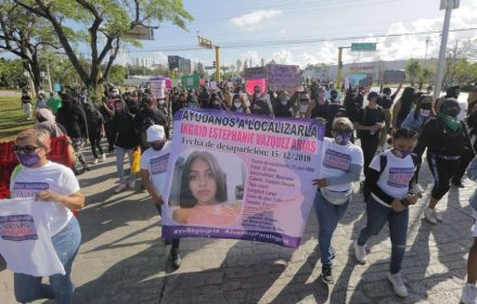 Disappearances in Mexico are on the rise and the government is unresponsive, NGOs say. Here, women protest the disappearance of a woman in Cancun, in November 2020. Some 20 percent of the people missing in Tamaulipas are women aged 18 to 30. (Erick Marfil/Getty Images)