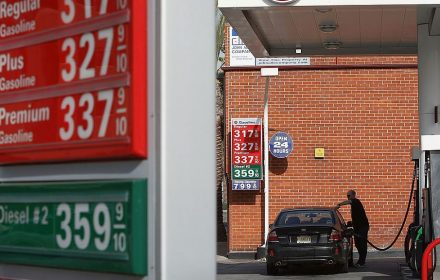 AAA put the national average retail price at $3.18 for a gallon of regular unleaded gasoline on Tuesday.(Photo by David McNew/Getty Images)