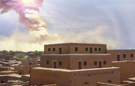 Scientists who analyzed soot found at the Tall el-Hamman site in Jordan have suggested an exploding meteorite, known as a bolide, entered the atmosphere more than 3,000 years ago near the Dead Sea and destroyed biblical Sodom. (East Carolina University)
