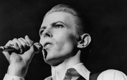 David Bowie, pictured in concert at Wembley, London, May 1976, tried his hand at journalism in the 1990s. (Central Press/Hulton Archive/Getty Images)